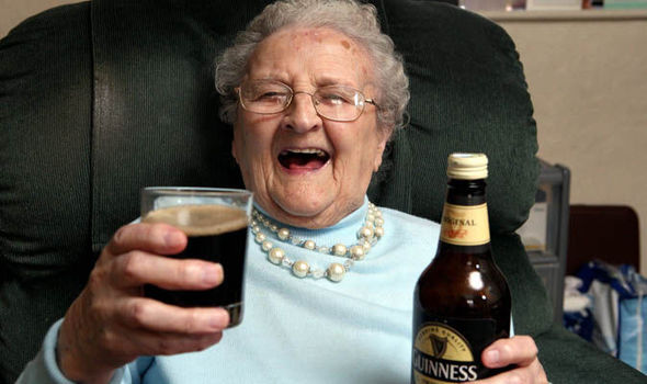 When your grandmother was young, she was  drinking only beer